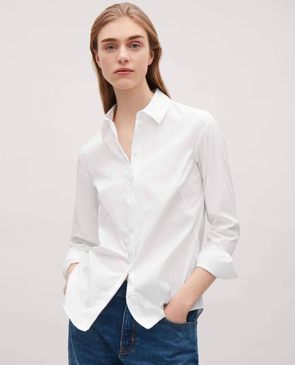 Mẫu áo sơ mi trắng truyền thống đẹp và phong cách