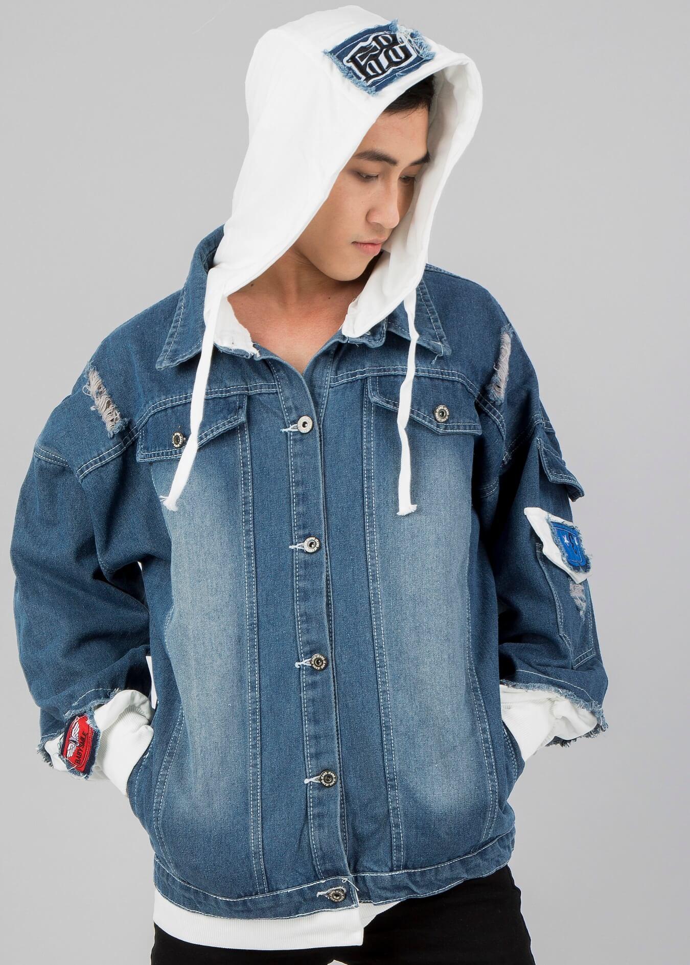 Áo khoác denim hoodie - mẫu áo khoác chất bạn nên sở hữu