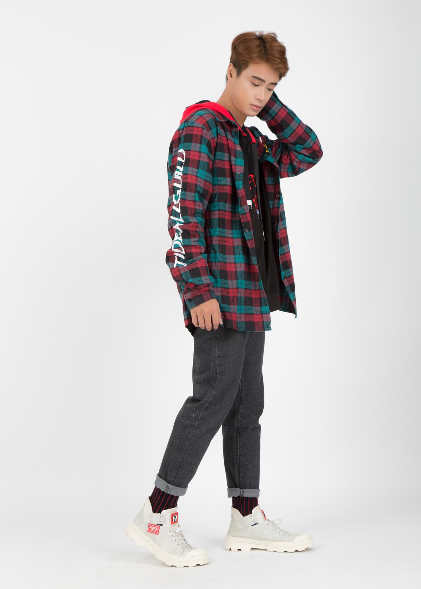 Những cách mặc áo sơ mi flannel đẹp
