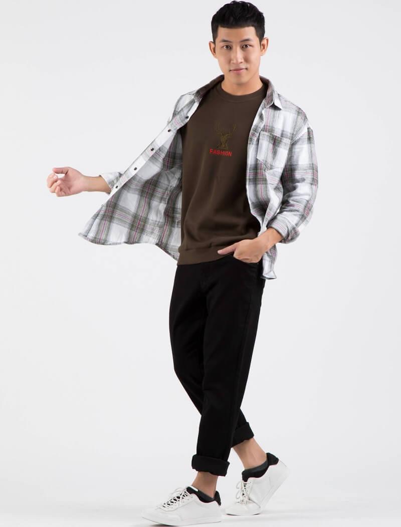 """Áo pull kết hợp với quần baggy jeans – set đồ huyền thoại của giới """"mộ điệu"""""""