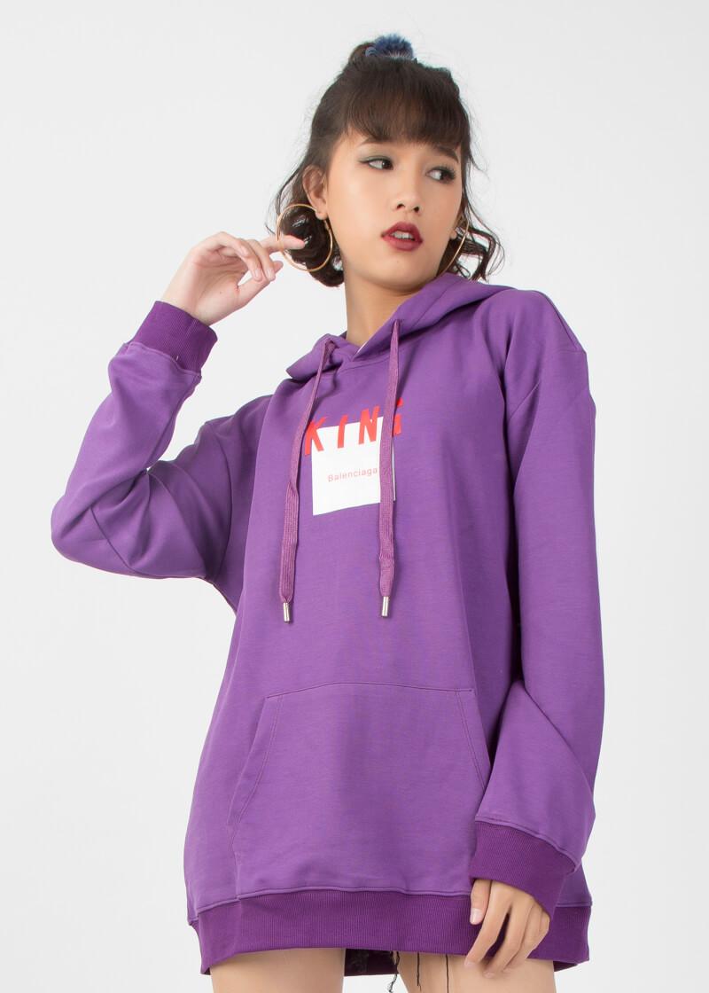 Áo hoodie unisex dáng dài