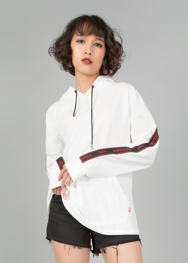 Áo hoodie unisex dáng suông