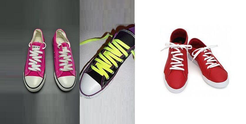 Cách xỏ dây giày Converse kiểu Ziczac