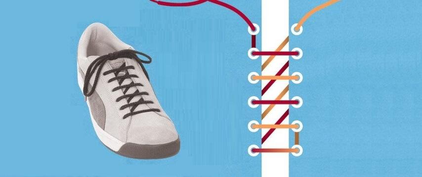 Cách xỏ dây giày Converse kiểu hình thang