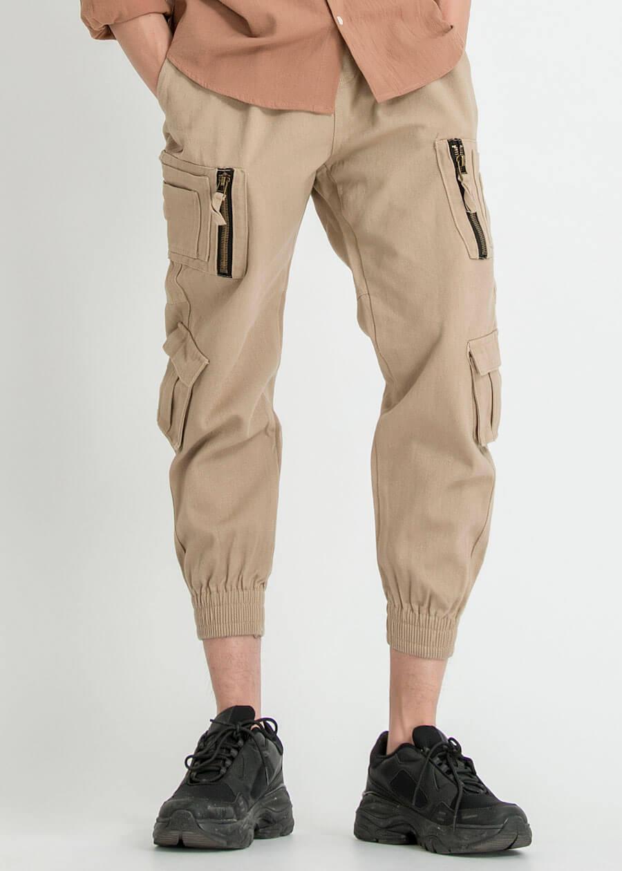 Mẫu quần jogger khaki túi hộp đẹp đậm chất đường phố