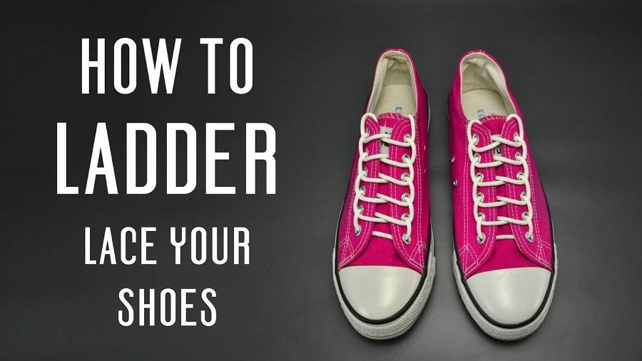 Kiểu thắt dây giày hình thang