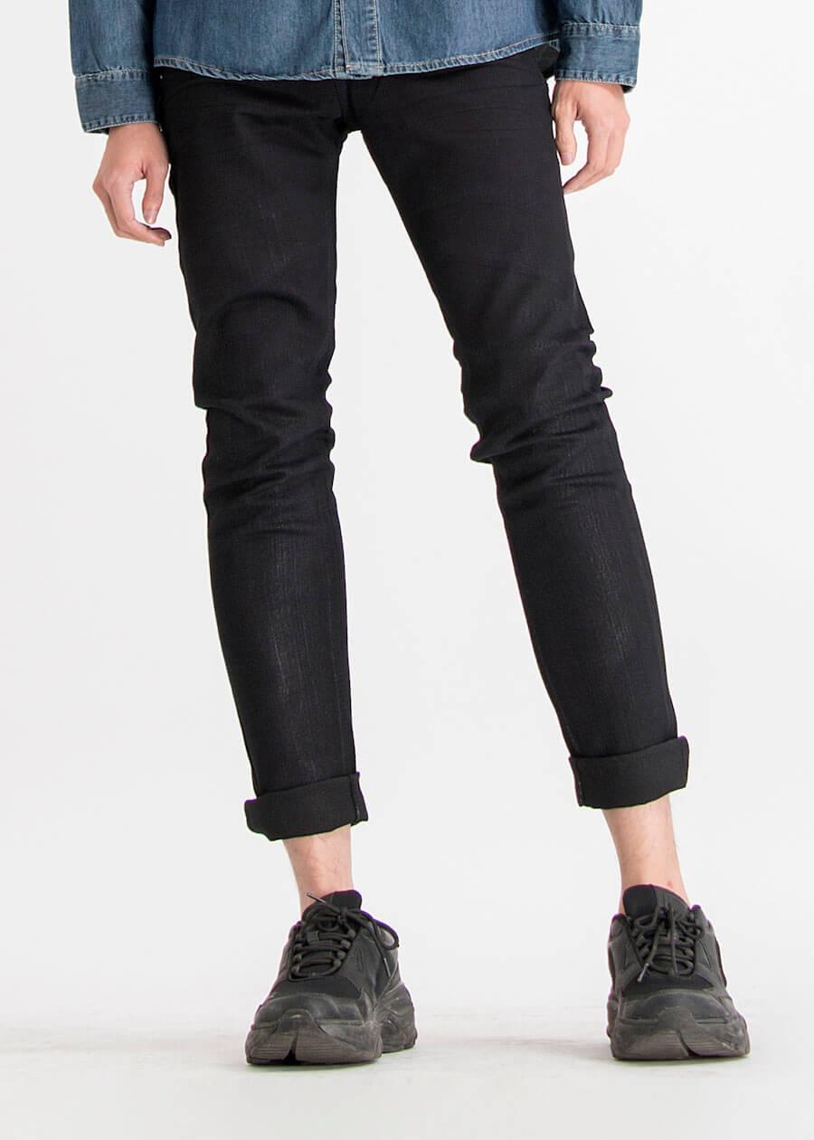 Mẫu quàn jean đen slimfit phong cách thể thao