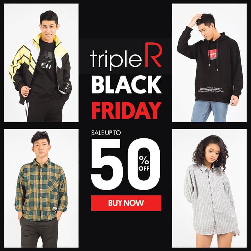 Black Friday: Giảm tới 50% tại tripleR