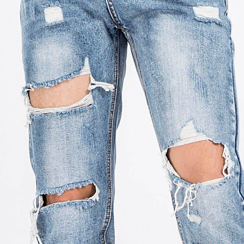 Sử dụng kéo - phấn - kim chỉ làm quần jean rách lớn