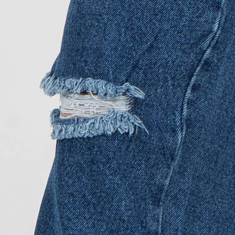 Cách làm quần jean rách đặc biệt khác