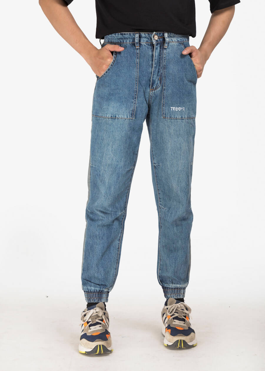 Mẫu quần jean form jogger phong cách túi hộp