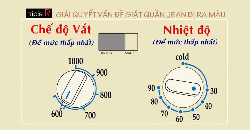 Cách giặt quần jean không ra màu chi tiết