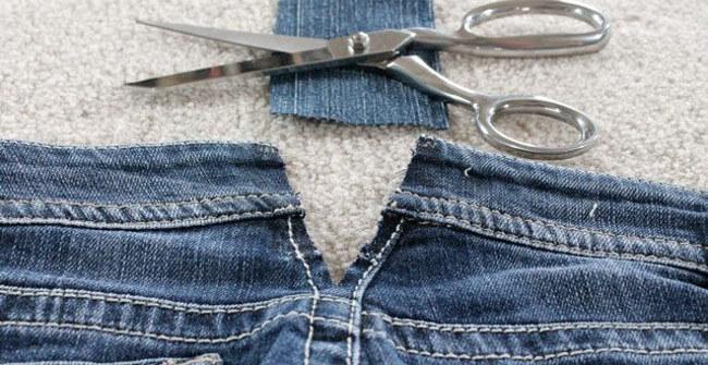 Cách sửa quần jean rộng bụng bằng máy may mini