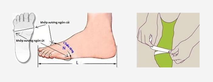 Cách chọn size giày bằng bảng quy đổi size