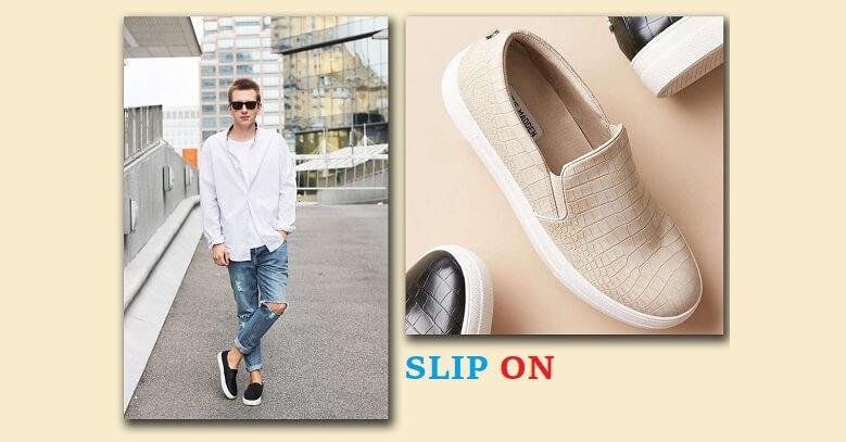 Có rất nhiều loại giày lười khác nhau: Slip on là một trong những kiểu giày lười phổ biến