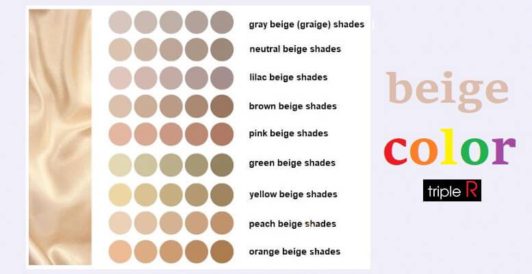 Nhiều phiên bản màu be mới được tạo ra như màu be gốc