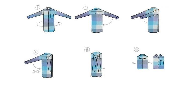 Cách 6: Cách gấp áo sơ mi dài tay giúp áo không bị nhăn