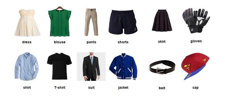 Quần áo tiếng anh là gì? Khám phá những thuật ngữ thời trang phổ biến