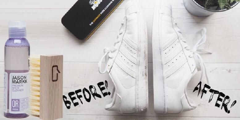 Cách vệ sinh giày sneaker bằng dung dịch tẩy rửa và dụng cụ chuyên dụng